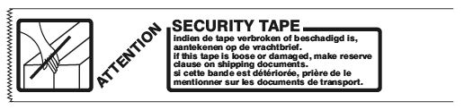 Security tape 50 mm
